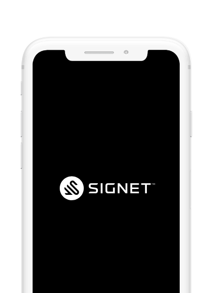 Signet logo on a phone